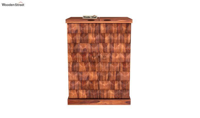 Auric Small Bar Cabinet (Honey Finish)-3