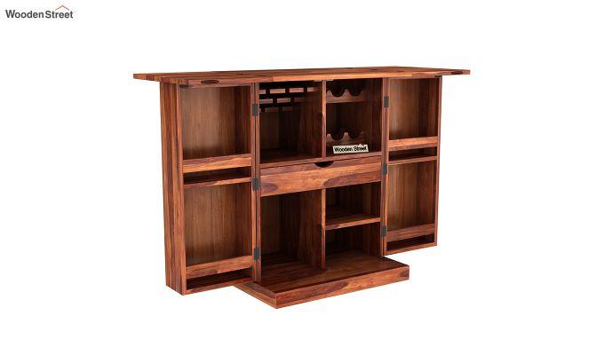 Auric Small Bar Cabinet (Honey Finish)-6