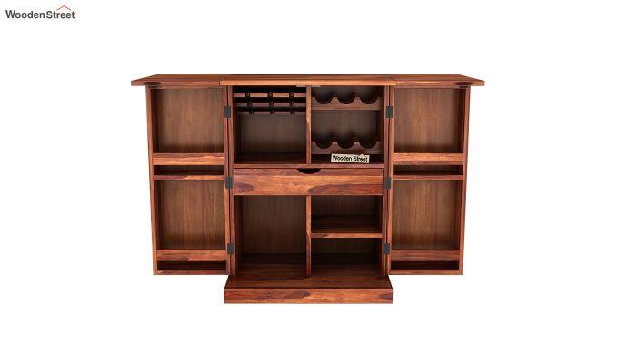 Auric Small Bar Cabinet (Honey Finish)-7