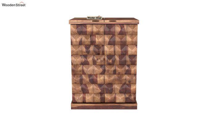 Auric Small Bar Cabinet (Teak Finish)-3