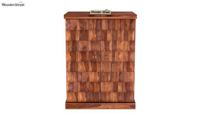 Auric Small Bar Cabinet (Teak Finish)-5