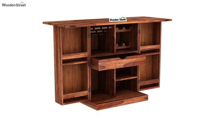 Auric Small Bar Cabinet (Teak Finish)-6