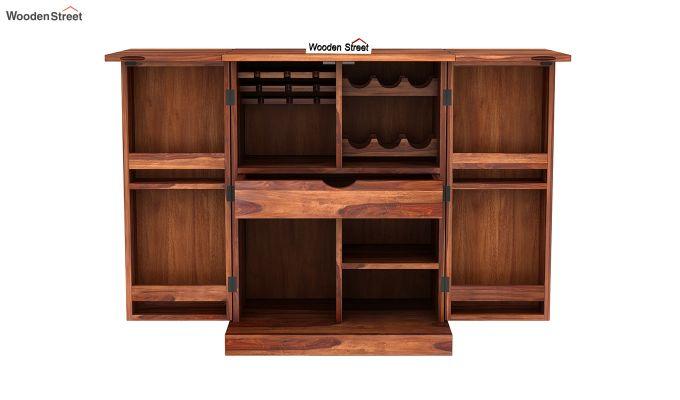 Auric Small Bar Cabinet (Teak Finish)-7