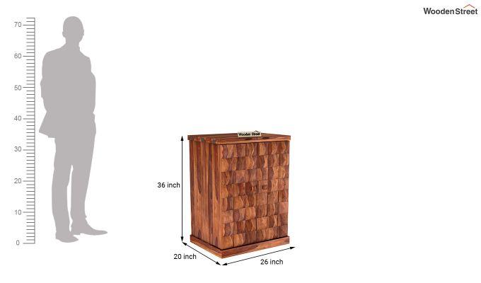 Auric Small Bar Cabinet (Teak Finish)-8