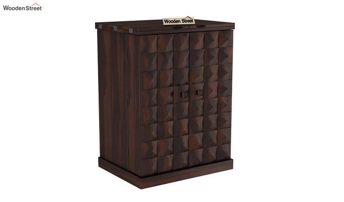 Auric Small Bar Cabinet (Walnut Finish)-4