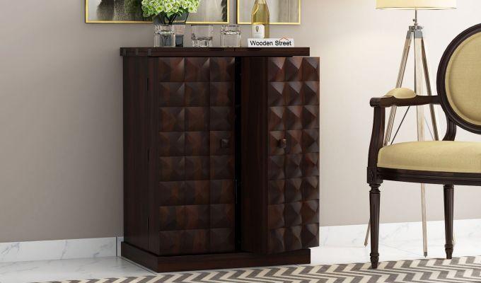 Auric Small Bar Cabinet (Walnut Finish)-3