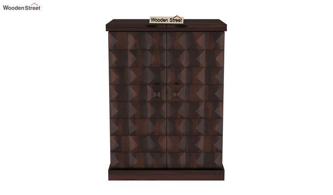Auric Small Bar Cabinet (Walnut Finish)-5