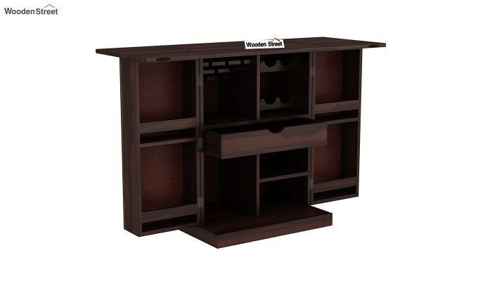 Auric Small Bar Cabinet (Walnut Finish)-6