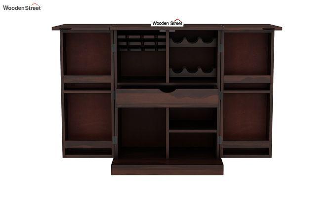 Auric Small Bar Cabinet (Walnut Finish)-7