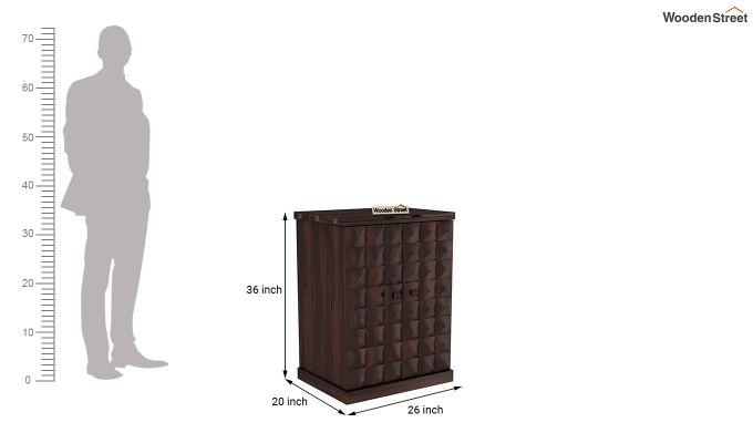 Auric Small Bar Cabinet (Walnut Finish)-8