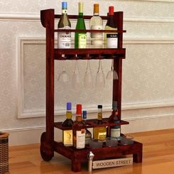 Bestro Bar Trolley (Mahogany Finish)