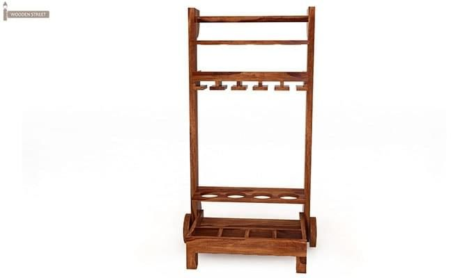 Bestro Bar Trolley (Teak Finish)-2