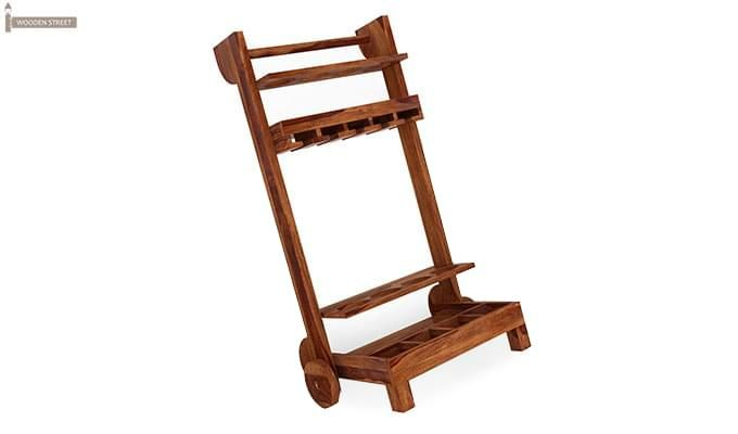 Bestro Bar Trolley (Teak Finish)-5