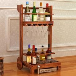 Bestro Bar Trolley (Teak Finish)
