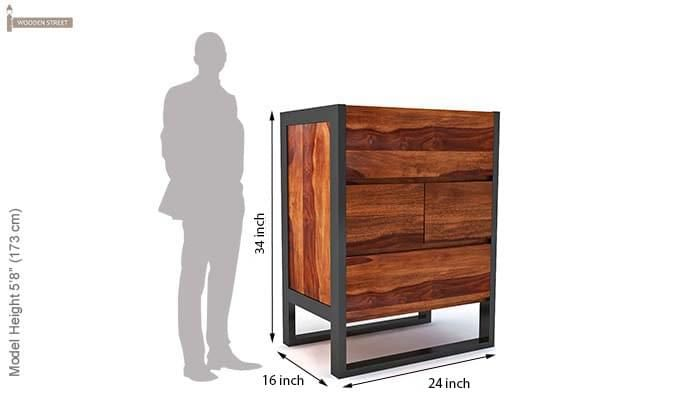 Bosnia bar Cabinet (Honey Finish)-7