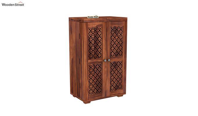Cambrey Bar Cabinet (Honey Finish)-2