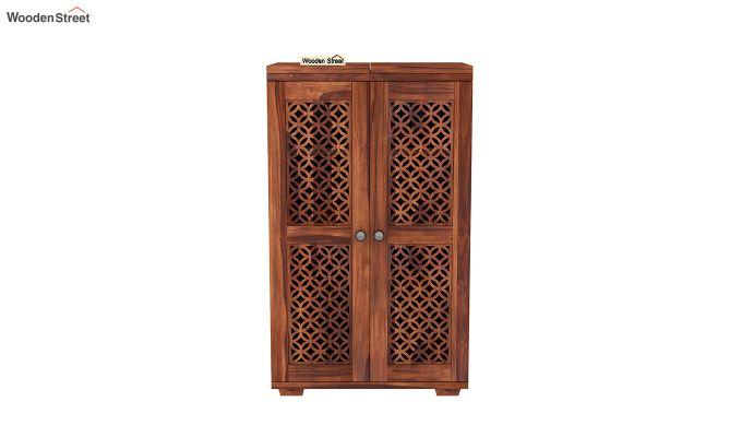 Cambrey Bar Cabinet (Honey Finish)-3