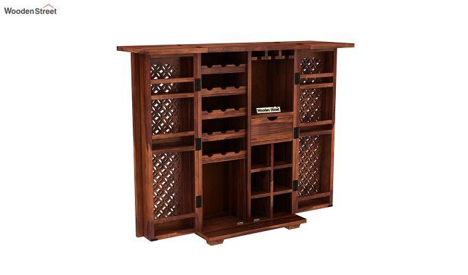 Cambrey Bar Cabinet (Honey Finish)-4