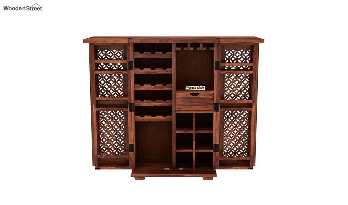 Cambrey Bar Cabinet (Honey Finish)-5