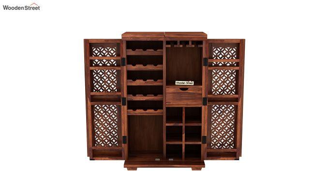 Cambrey Bar Cabinet (Honey Finish)-7