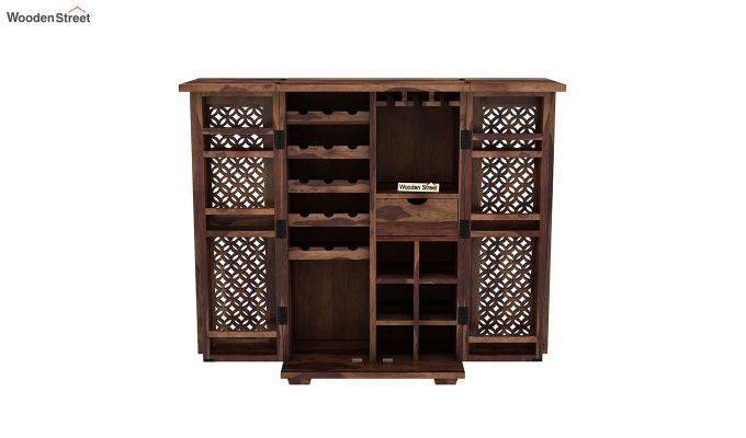 Cambrey Bar Cabinet (Teak Finish)-5