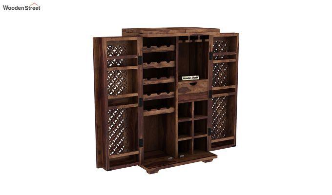 Cambrey Bar Cabinet (Teak Finish)-6