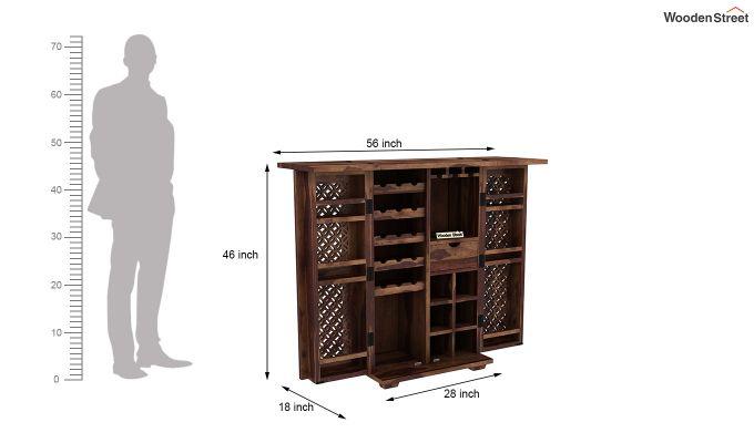 Cambrey Bar Cabinet (Teak Finish)-8