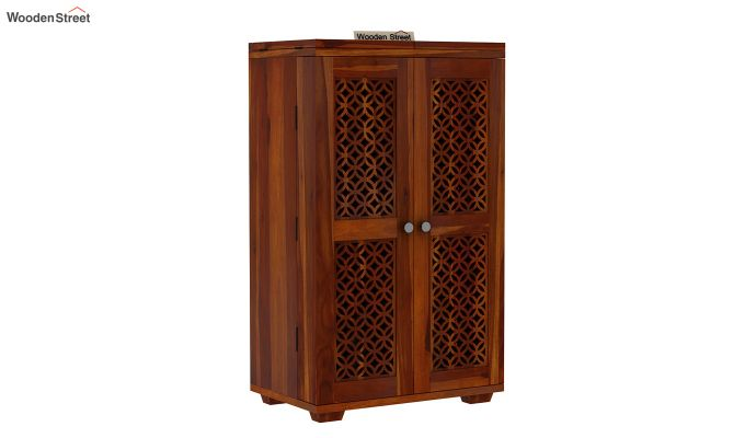 Cambrey Bar Cabinet (Honey Finish)-10