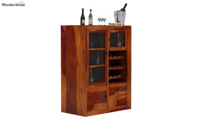 Carvel Bar Cabinet (Honey Finish)-1