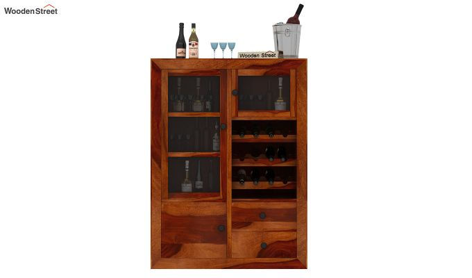 Carvel Bar Cabinet (Honey Finish)-2