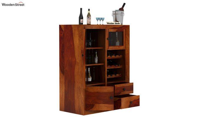 Carvel Bar Cabinet (Honey Finish)-3