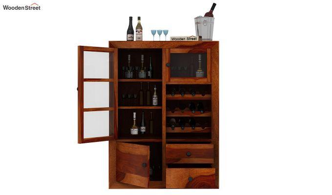Carvel Bar Cabinet (Honey Finish)-4