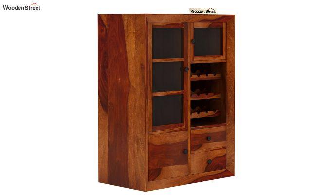 Carvel Bar Cabinet (Honey Finish)-5