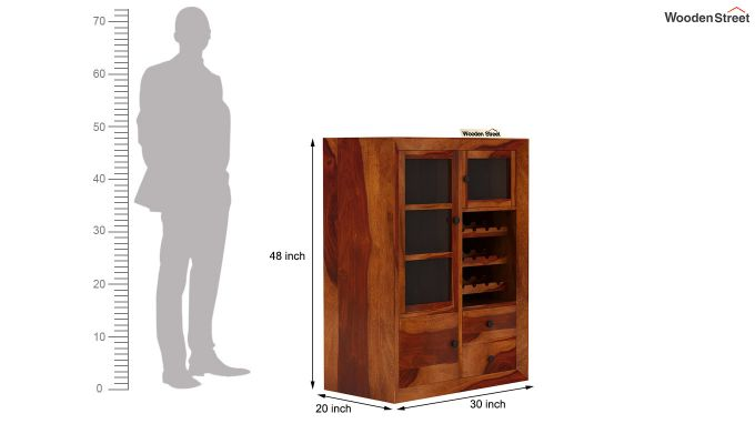 Carvel Bar Cabinet (Honey Finish)-7