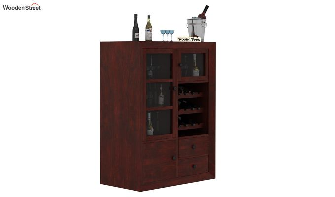 Carvel Bar Cabinet (Mahogany Finish)-1