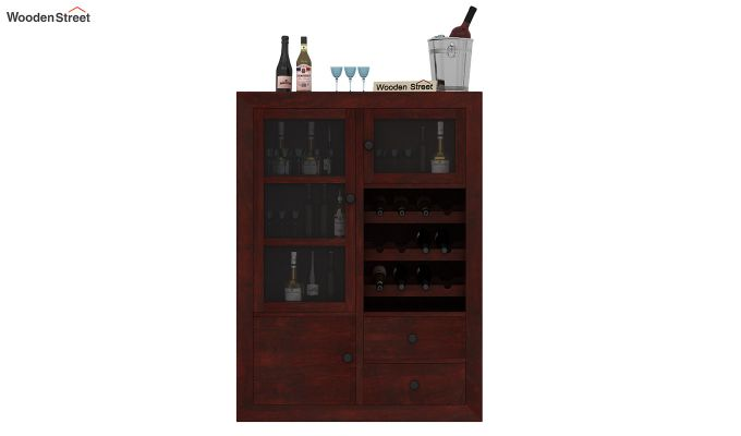 Carvel Bar Cabinet (Mahogany Finish)-2
