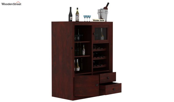 Carvel Bar Cabinet (Mahogany Finish)-3