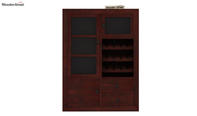 Carvel Bar Cabinet (Mahogany Finish)-6