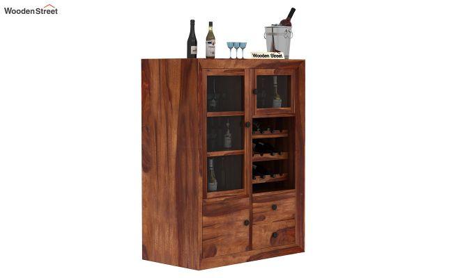 Carvel Bar Cabinet (Teak Finish)-1