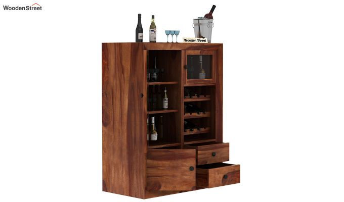 Carvel Bar Cabinet (Teak Finish)-3