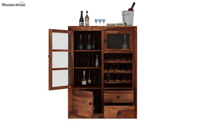 Carvel Bar Cabinet (Teak Finish)-4