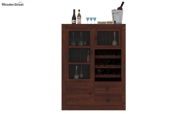 Carvel Bar Cabinet (Walnut Finish)-3
