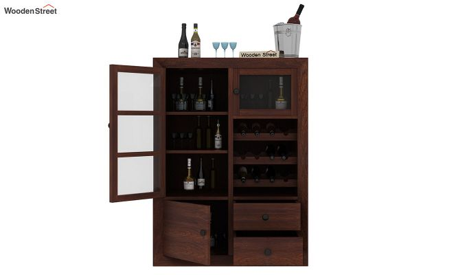 Carvel Bar Cabinet (Walnut Finish)-5
