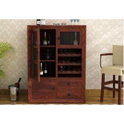 Carvel Bar Cabinet (Walnut Finish)