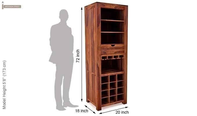 Cary Bar Cabinet (Teak Finish)-6