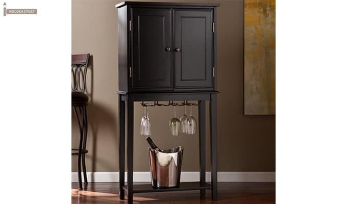 Celise Bar Cabinet (Black Finish)-1
