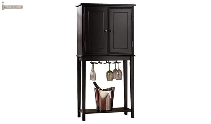 Celise Bar Cabinet (Black Finish)-2