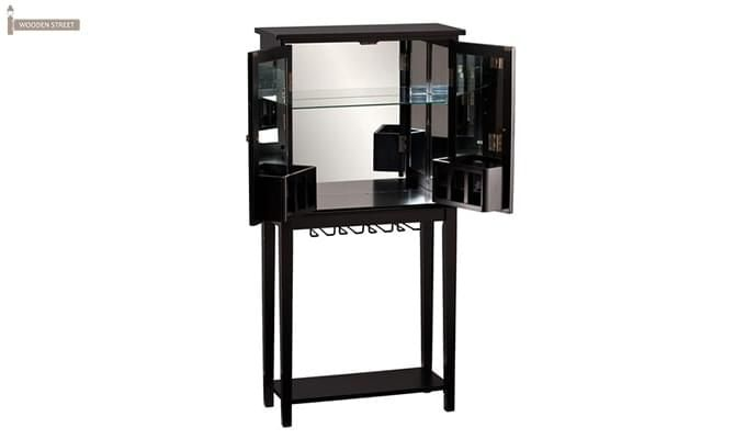 Celise Bar Cabinet (Black Finish)-3