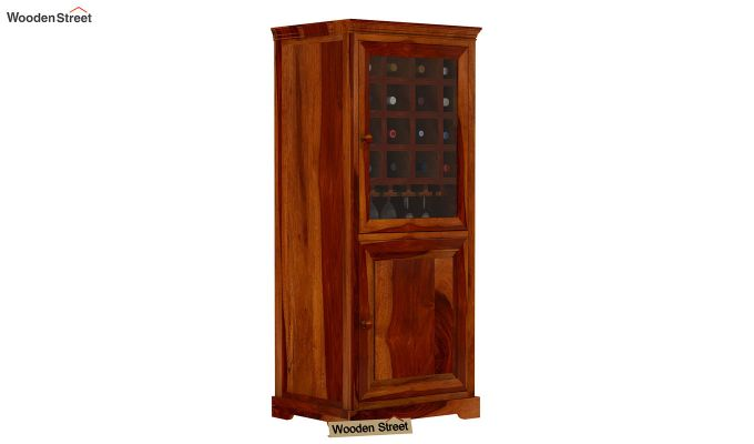 Charles Bar Cabinet (Honey Finish)-2