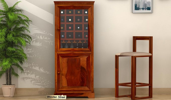 Charles Bar Cabinet (Honey Finish)-1